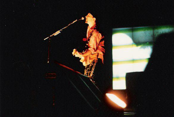 The Edge at a U2 concert